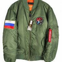 Shop :: Vintage / Branded :: Outerwear :: Russia MA-1 Bomber Jacket - Agora Clothing - Shop - Products
