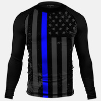 Tactical thin blue line compression long sleeve Jersey