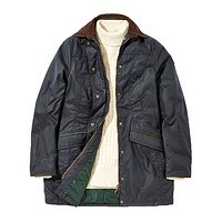 Women's Baltray Waxed Cotton Jacket in Navy by Dubarry of Ireland