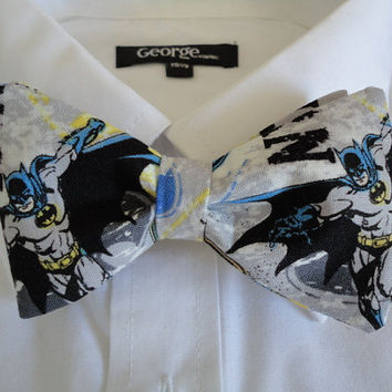 Bow tie made from Batman Comics Fabric