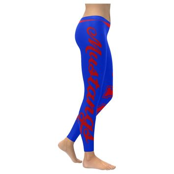 Dallas Blue & Red University Women's Team Leggings; 2XS - 5XL available
