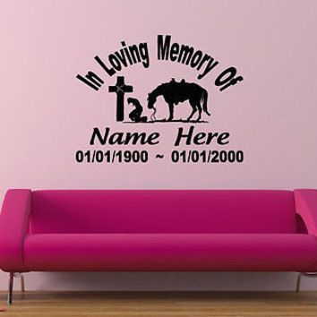 In loving memory of my Mom Memorial Decor Wall Decal Art Vinyl Sticker tr304