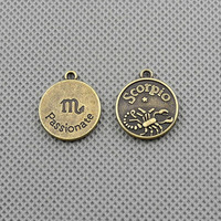 30x Making Jewellery Supply Supplies Charms Pendant DIY Craft Alloys Lots Keyrings Jewelry Findings A2518-H Scorpio