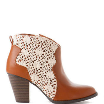 JUN & IVY SHOES, TEGAN CROCHET BOOTIE