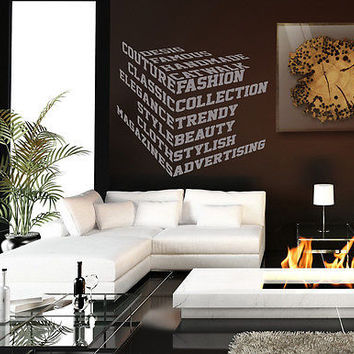 Trend collection fashion design style Stylish Wall Art Sticker Decal 8230