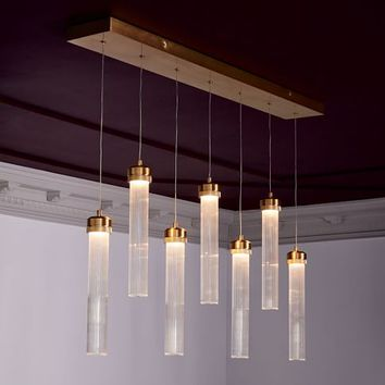 Fluted Cylinder LED Chandelier