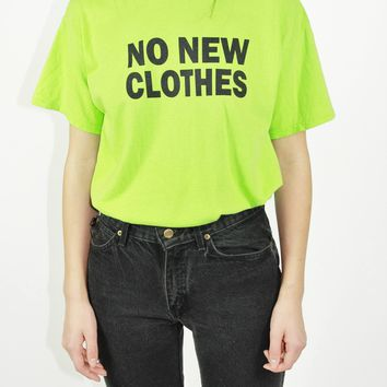 Repurposed Used Shirt with Sustainability Slogan M