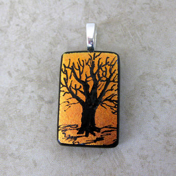Tree Pendant, Tree Jewelry, Hand Etched Pendant, Nature Jewelry, Tree Jewelry - Richmond Tree - 4006 -2