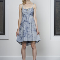Navy Floaty Cut-Out Dress - XS, Small, or Medium