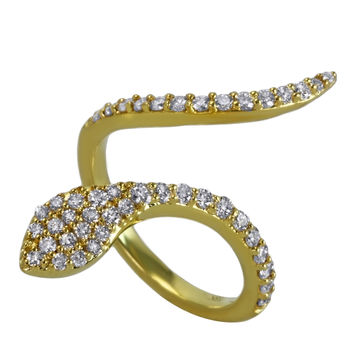 Khai Khai Serpent Ring - Diamond Ring - ShopBAZAAR