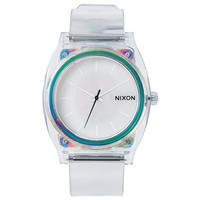 Nixon A1191779 Unisex The Time Teller P White Dial Clear Translucent Polyurethane Strap Watch