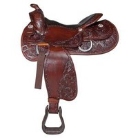 Double S Open Range Saddle in Trail