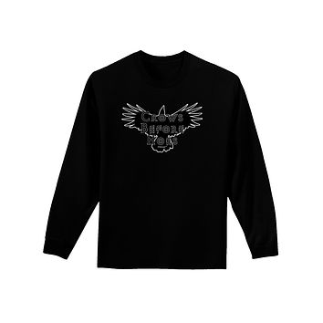 Crows Before Hoes Design Adult Long Sleeve Dark T-Shirt by TooLoud
