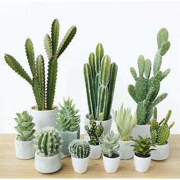 Artificial Succulent Cactus Decor