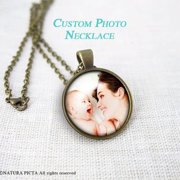 Custom photo necklace-photo pendant-personalized necklace-portrait necklace-your own photo-custom jewelry-Christmas gift-NATURAPICTA-NPNK051