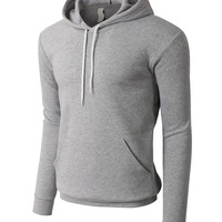 PREMIUM Mens Slim Fit Soft Fleece Pullover Hoodie Sweatshirt