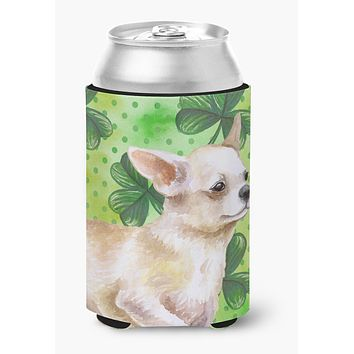 Chihuahua Leg up St Patrick's Can or Bottle Hugger