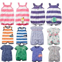 Newborn baby summer clothes boys clothes one piece romper overalls baby jumpsuit clothes baby girl