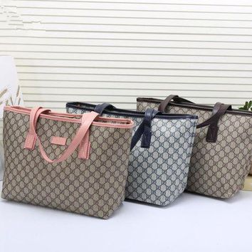 DCCKXT7 Gucci' Casual Fashion Classic Double G Letter Print Tote Single Shoulder Bag Women Large Capacity Shopper Handbag