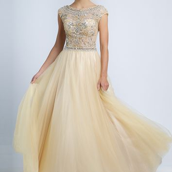 A-Line Cap Sleeve Dress 94224 - Prom Dresses