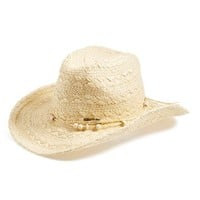 Junior Women's Rip Curl 'Surf Cowgirl' Woven Cowboy Hat - White
