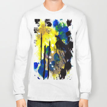 Abstract Painting Long Sleeve T-shirt by Yuval Ozery