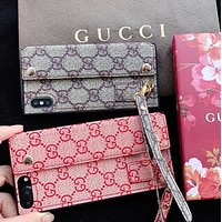 GUCCI New fashion more letter leather couple protective cover phone case