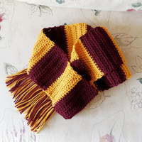 "Redskins or Gryffindor Harry Potter Scarf 5' 8"" plus 4"" tassels"