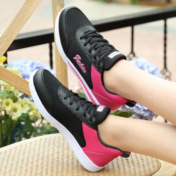 2017 Woman Sport Shoes bambas de Running Ballet Dancers Flat Platform for Girls Lightweight  Breathable Footwear Women Sneakers
