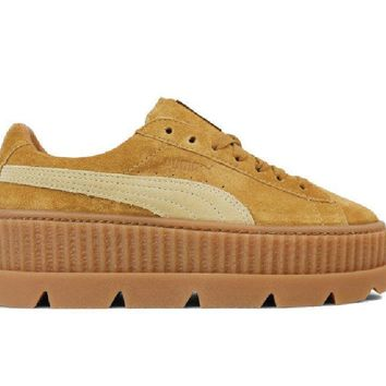 Puma Fenty Cleated Suede Creeper (Golden Brown / Lark) 366268-02