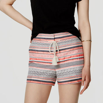 Striped Drawstring Riviera Shorts with 4