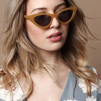 Skinny Cat Eye Shades - Yellow
