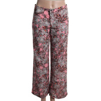 Impulse Womens Floral Print Flat Front Wide Leg Pants