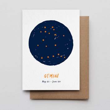 Gemini Star Sign Card