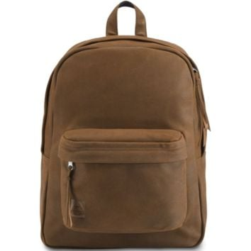 JanSport - Superbreak Vintage Brown Leather Backpack