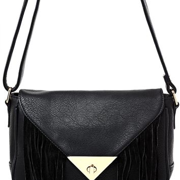 Fringe Detail Cross Body Bag