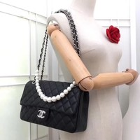 New CHANE SIZE 17cm*20cm*25cm Double C Women Leather silver and gold on Chain cross body bag Chane vintage Chanl jumbo   Fashion Handbag Neverfull Tote Shoulder Bag Wallet Messenger Bags