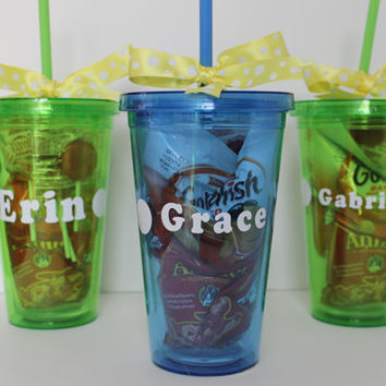 Personalized Party Favor, Acrylic Insulated Cup with Straw- kid party favor, engagment party favor