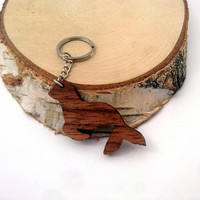 Wooden Seal Keychain, Walnut Wood, Animal Keychain, Environmental Friendly Green materials