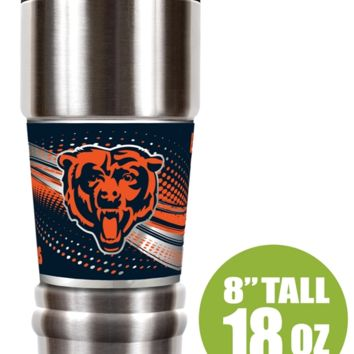 """Chicago Bears """"The MVP"""" 18 oz Vacuum Insulated Stainless Steel Tumbler"""