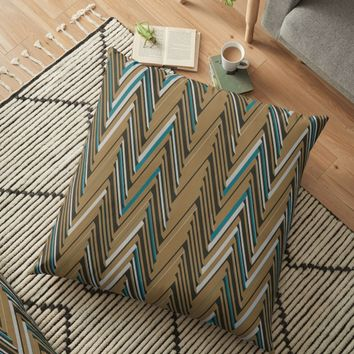 'Abstract Chevron III' Floor Pillow by Amir Faysal