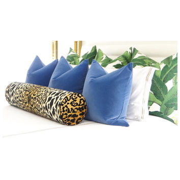 The Bolster // Leopard Velvet