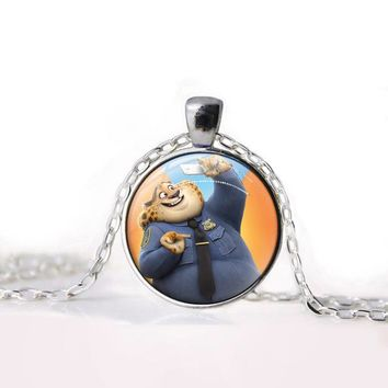 Zootopia Necklace Fox Cartoon Jewelry rabbit Judy Nick Police chief Glasses Pendant Necklace Women Girls Gift For Kids