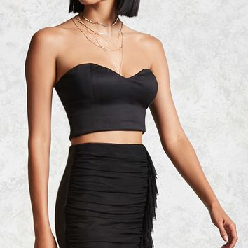 Contemporary Mesh Ruffle Skirt