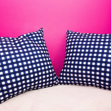 Checkers Pillow.20x20 inch.Decorator Pillow Covers.Printed Fabric Front and Back.Housewares.Home Decor.Cushions.cm