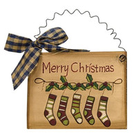 Merry Christmas Stocking Sign