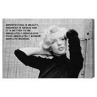 """Oliver Gal Runway Avenue """"Genius"""" Photographic Print on Wrapped Canvas"""