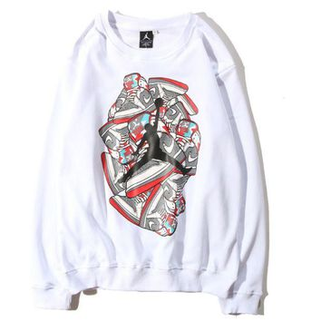 ac NOVQ2A Jordan autumn and winter men and women with casual long-sleeved crew neck sweater