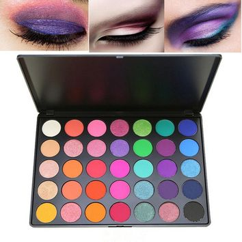 Fashion 35 colors eyeshadow palette shimmer matte pigment powder waterproof long lasting sexy red blue eyeshadow kit MOR016