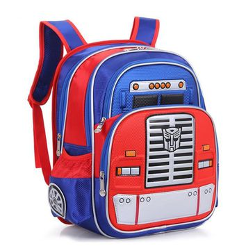 de77d1ae87 Transformers Children s Backpack Boys Animation Cartoon Autobots